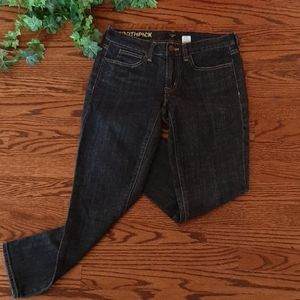 J. CREW TOOTHPICK cropped stretch jeans